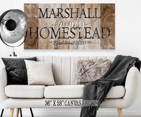 Image of Personalized - Family Homestead - Canvas.