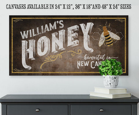 Image of Personalized - Family Honey Bee Keeper - Canvas.