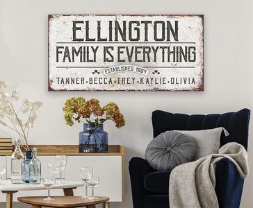 Personalized - Family Is Everything - Canvas.
