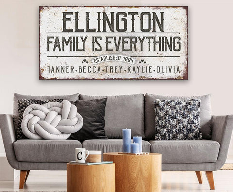 Image of Personalized - Family Is Everything - Canvas.