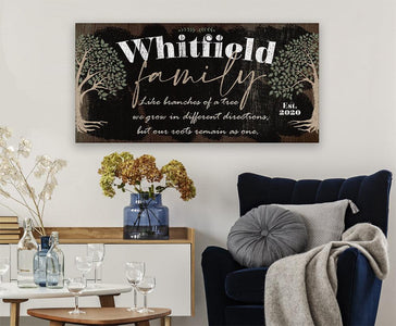 Personalized - Family Like Branches - Canvas
