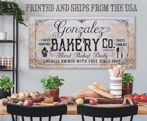 Personalized - Family Name Bakery - Canvas.