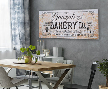 Personalized - Family Name Bakery - Canvas