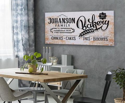 Image of Personalized - Family Name Bakery - Canvas.