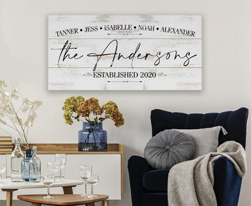 Personalized - Family Name - Canvas.