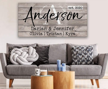 Personalized - Family Name - Canvas
