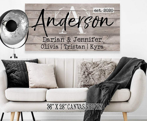 Image of Personalized - Family Name - Canvas