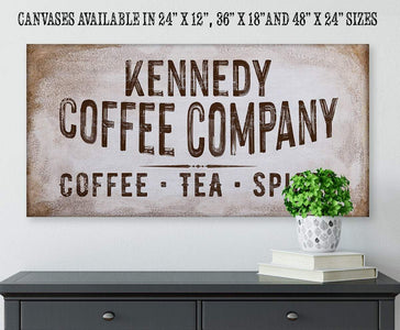 Personalized - Family Name Coffee Co - Canvas