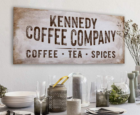 Personalized - Family Name Coffee Co - Canvas.