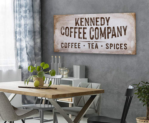 Image of Personalized - Family Name Coffee Co - Canvas.