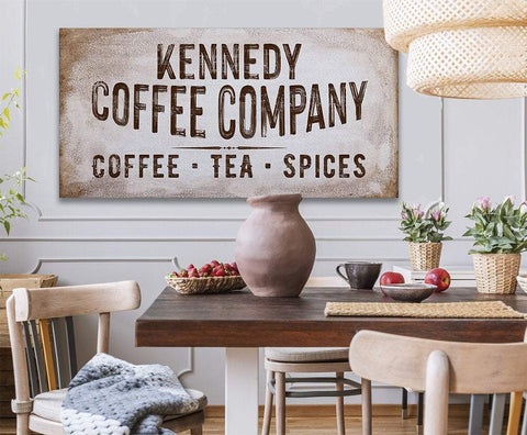 Image of Personalized - Family Name Coffee Co - Canvas