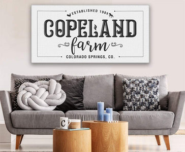Personalized - Family Name Farm - Canvas Lone Star Art