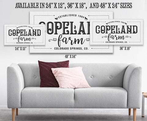 Image of Personalized - Family Name Farm - Canvas Lone Star Art