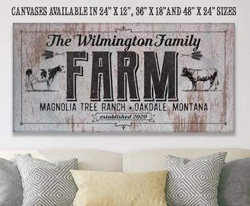 Personalized - Family Name Farm - Canvas.