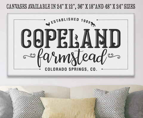 Personalized - Family Name Farmstead - Canvas.
