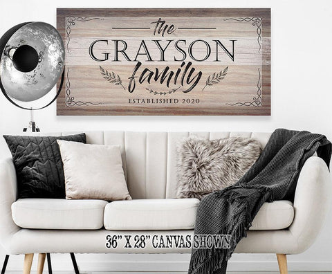 Image of Personalized - Family Name - Canvas.