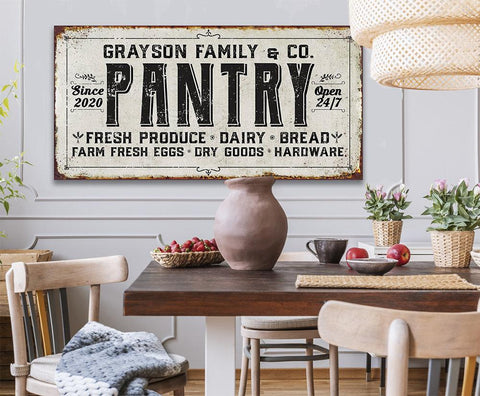 Image of Personalized - Family Pantry - Canvas