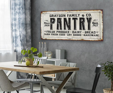 Personalized - Family Pantry - Canvas