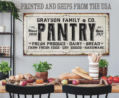 Personalized - Family Pantry - Canvas.