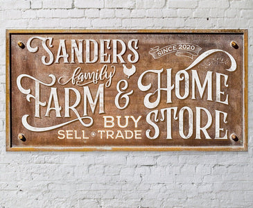"Personalized - Farm & Home Store - Canvas Lone Star Art 12"" x 24"""