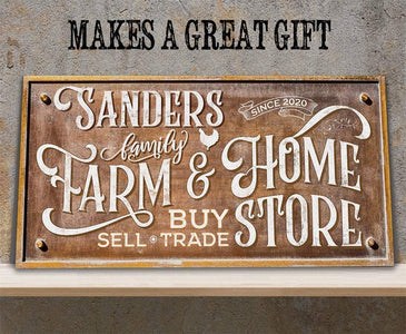 Personalized - Farm & Home Store - Canvas Lone Star Art
