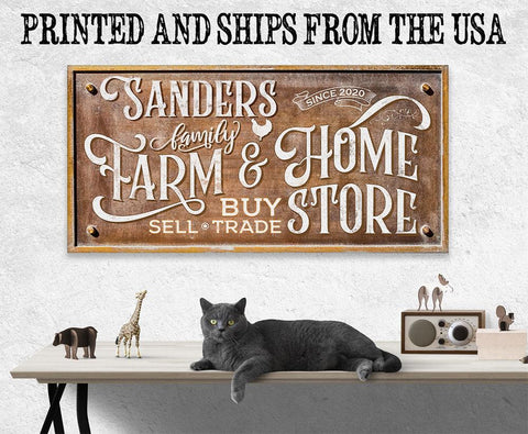Image of Personalized - Farm & Home Store - Canvas Lone Star Art