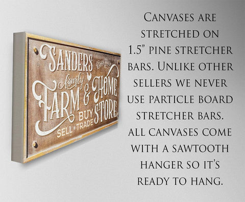 Image of Personalized - Farm & Home Store - Canvas