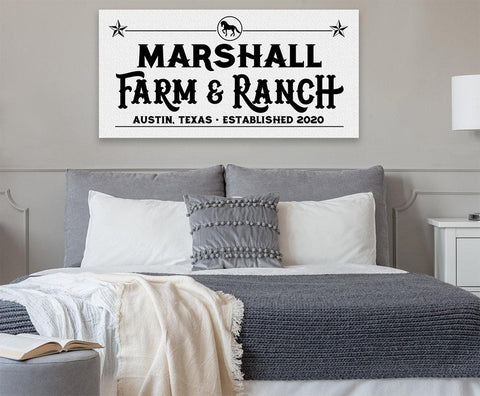 Image of Personalized - Farm & Ranch - Canvas - Great Gift for Cattle Ranchers