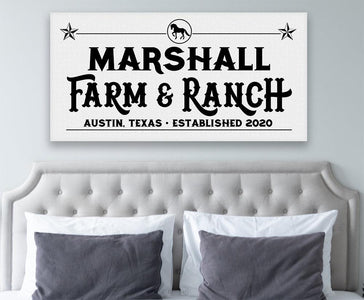 Personalized - Farm & Ranch - Canvas - Great Gift for Cattle Ranchers
