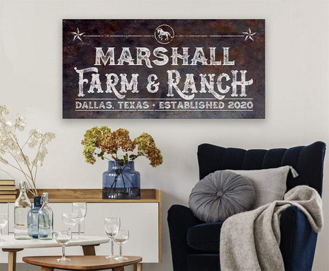 Image of Personalized - Farm & Ranch - Canvas.