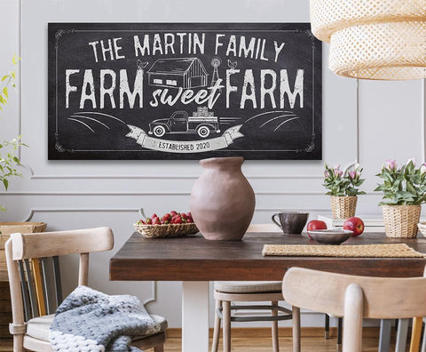 Image of Personalized - Farm Sweet Farm - Canvas.