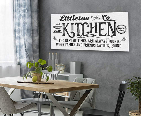 Image of Personalized - Farmhouse Kitchen - Canvas.