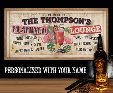 Personalized - Flamingo Lounge - Canvas.