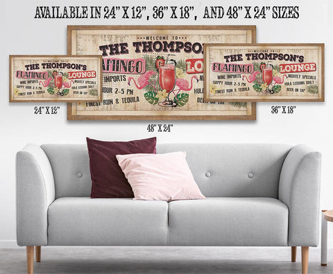 Image of Personalized - Flamingo Lounge - Canvas.