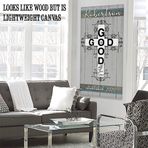 Personalized - God Is Good - Canvas