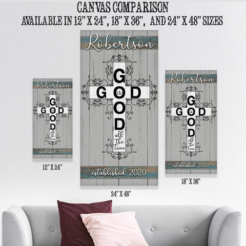 Image of Personalized - God Is Good - Canvas