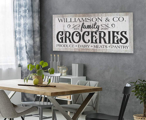Image of Personalized - Groceries - Canvas