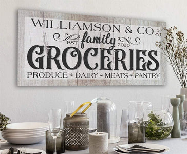Personalized - Groceries - Canvas.
