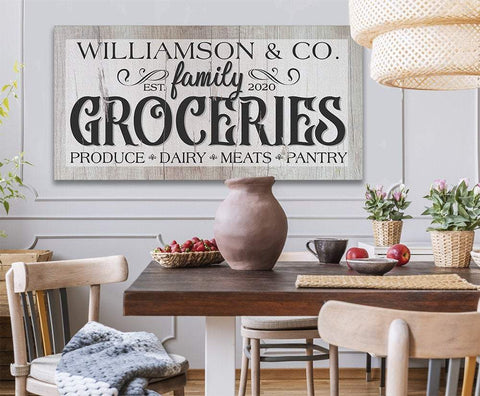 Image of Personalized - Groceries - Canvas.