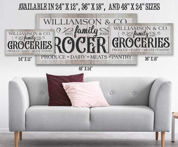 Personalized - Groceries - Canvas