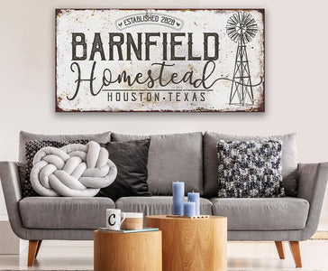 Personalized - Homestead Windmill - Canvas