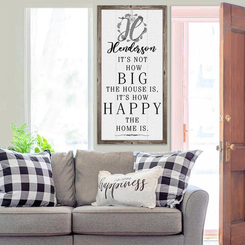 Image of Personalized - It's Not How Big - Canvas Lone Star Art