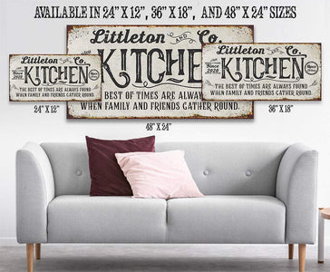 Personalized - Kitchen Best of Times - Canvas