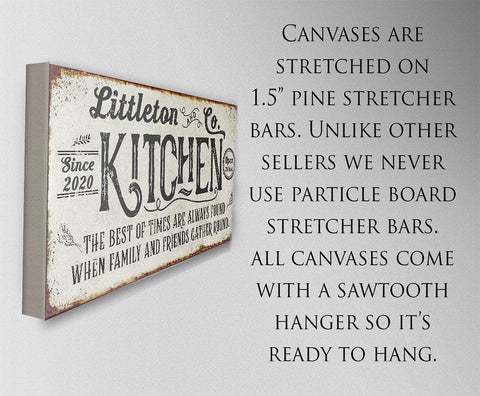 Image of Personalized - Kitchen Best of Times - Canvas
