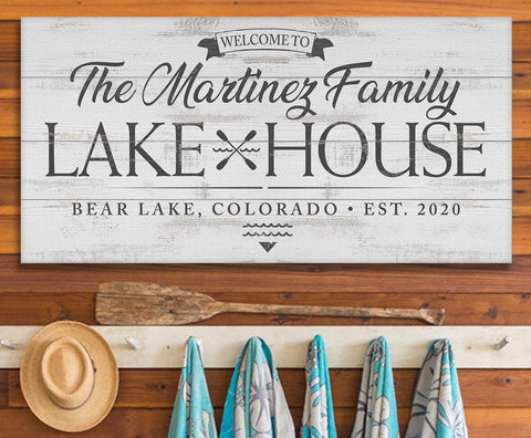 Personalized - Lake House - Canvas.