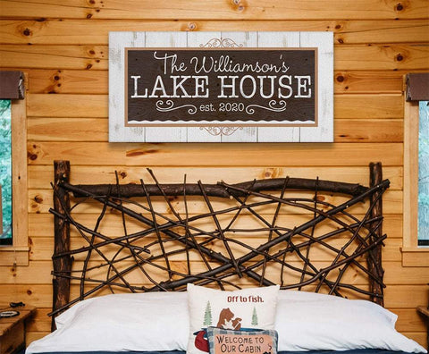 Image of Personalized - Lake House - Canvas.