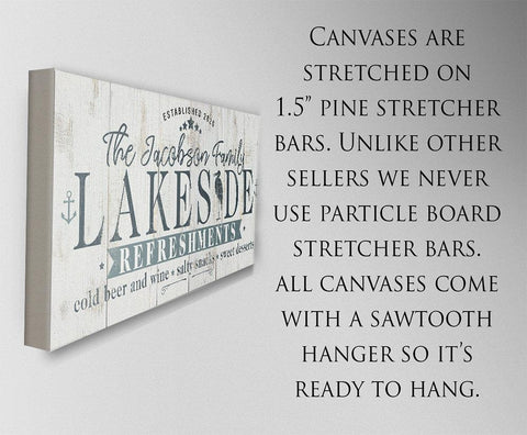 Personalized - Lakeside Refreshments - Canvas Lone Star Art