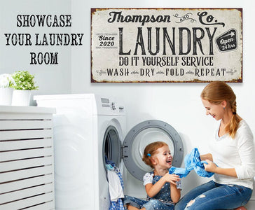 Personalized - Laundry and Co - Canvas.