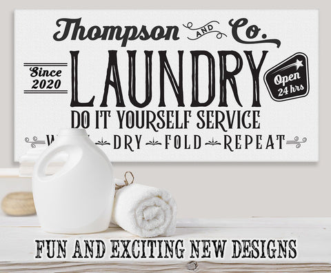 Image of Personalized - Laundry and Co - Canvas