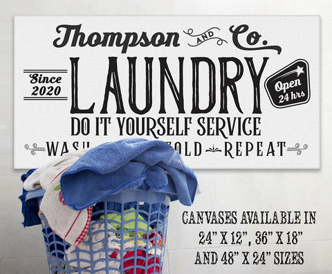 Image of Personalized - Laundry and Co - Canvas.